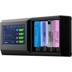 Cargador con Pantalla Tester de baterías, Voltaje, Capacidad.