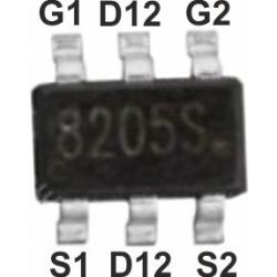 Transistor MOSFET Dual Mos 8205