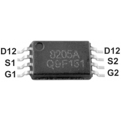 Transistor MOSFET Dual Mos 8205A