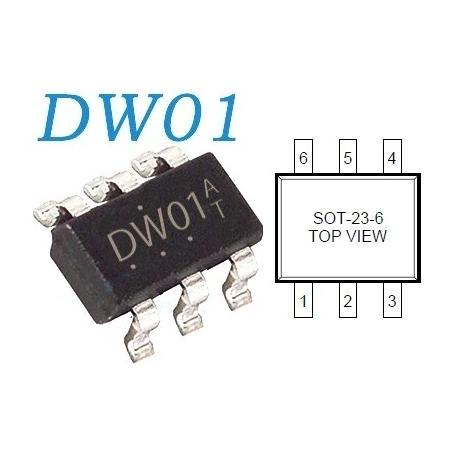DW01 Gestor de carga de baterías de Litio