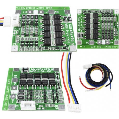 PCM para Baterías de Litio 14.8v 30A. BW-4S