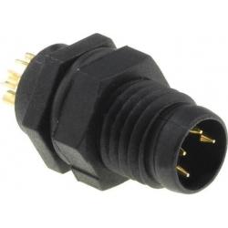 Conector M8 Amphenol IP67 Chasis Macho Plástico
