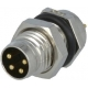 M8 Amphenol IP67 Chasis Macho Metal 4pin PMMP SF7001