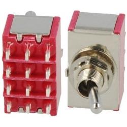 Interruptor de palanca de 4 circuitos 2 y 3 posiciones