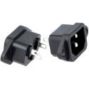 Base enchufe de luz IEC-C14 macho KS