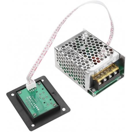 Regulador Dimmer ajustable con pantalla 220v 4000w, 20A