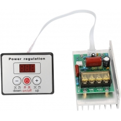 Regulador Dimmer ajustable On-Off con pantalla 220v 10000w, 45A
