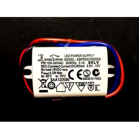 Driver Led EAGLE RISE EBP 100-240vAC 0-650mA 1-3w
