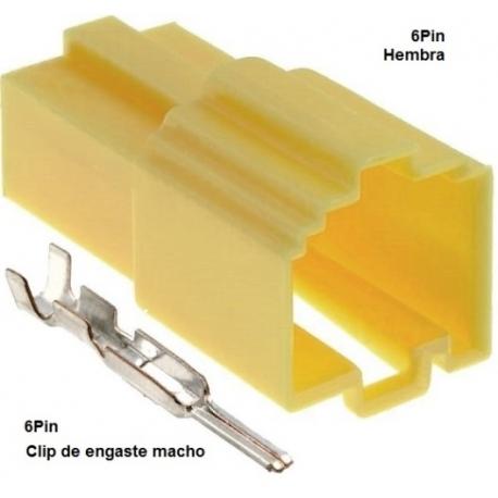 Conectores Mini ISO Hembra 6Pin