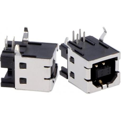 Conector USB A-Hembra SMD 4 pin