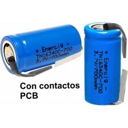 Baterías de Litio 16340 3.7v 700mA Recargables