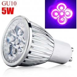 Lamparas Led UV 220v Gu10-5w