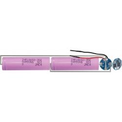 PCM 2S Redondo para Baterías de Litio 7.4v 2S1P, para pack en Linea