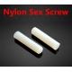 Espárrago allen Nylon M6 con extremo biselado hueco