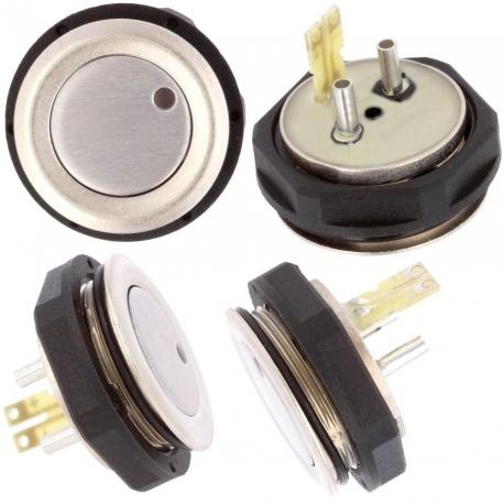 Pulsadores de panel Antivandalos SCHURTER 19mm 2855