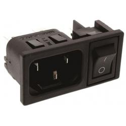 Base enchufe IEC-C14 macho con interruptor 53B