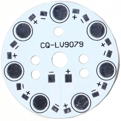 Pcb redondo 49mm para 7 Led Lumiled 9079