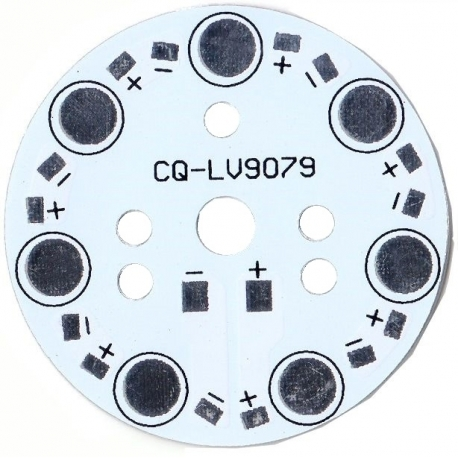 Pcb redondo 49mm para 7 Led Lumiled 9079