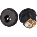 Conector Jack Alimentación Hembra Panel-Chasis 5.5x2.1mm SCHURTER