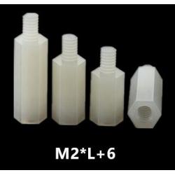 Separadores Hexagonales Nylon Rosca M2