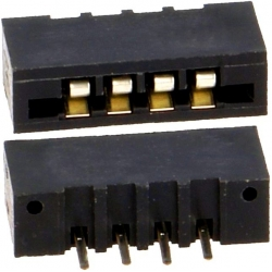 Conector FFC-FPC No ZIF Recto 2.54mm THT