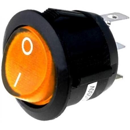 Interruptor basculante (Rocker) 23x20mm con neon 220v