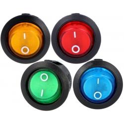 Interruptor basculante (Rocker) 23x20mm con neon