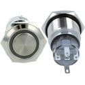 Pulsador conmutado de panel Antivandalo con Led Anillo 19mm 1C