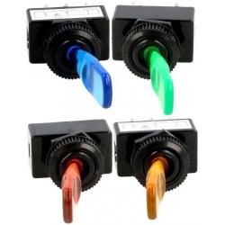 Interruptor de palanca con Led, 12v