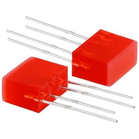 Cubo Led de 5x10mm Rojo