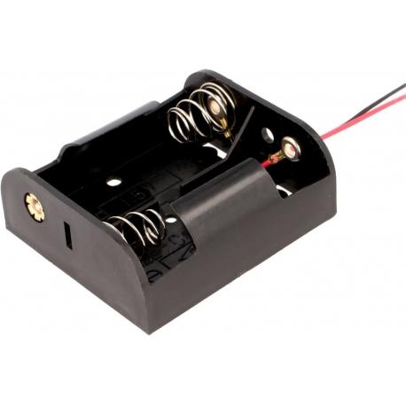 Portapilas baterías 2 x R14 cables