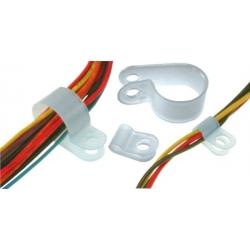 Sujeta cable abrazadera de nylon Natural