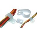 Sujeta Cables Abrazadera de Nylon Natural