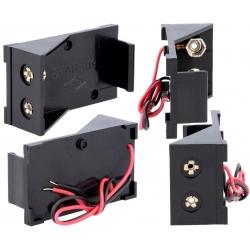 Portapilas Pilas/Baterías 1 x 9v con cables