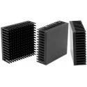 Disipador Térmico de Púas Anodizado en Negro de 46x46x16.51mm