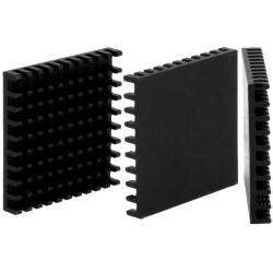 Disipador Térmico de puas Anodizado Negro 40x40x6mm