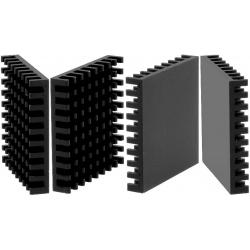 Disipador Térmico de puas Anodizado Negro 35x35mm