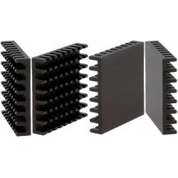 Disipador Térmico de puas Anodizado Negro 31x31mm