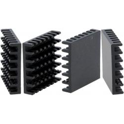Disipador Térmico de puas Anodizado Negro 27x27mm
