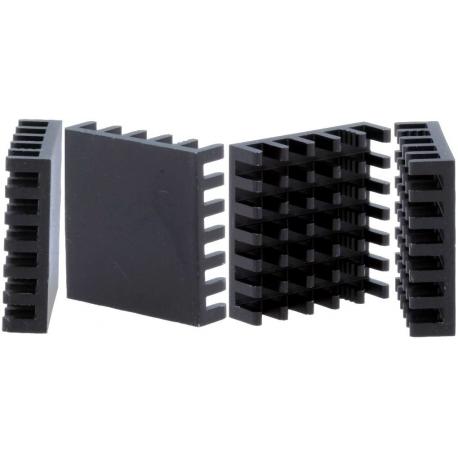 Disipador Térmico de puas Anodizado Negro 23x23mm
