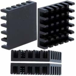 Disipador Térmico de puas Anodizado Negro 21x21mm