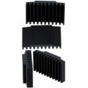 Disipador Térmico Recatangular de Aletas 30x17x7.5mm