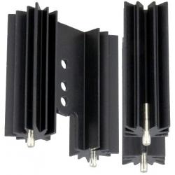 Disipador Térmico Aluminio Extruido en U 38x34.5x12.5mm