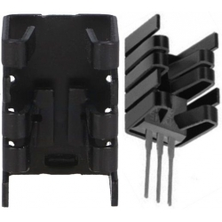 Disipador Térmico para Transistores, Tiristores, Triacs tipo U 19x12.5x12.5mm