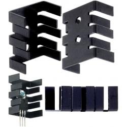 Disipador Térmico Aluminio en U 30x25.4x13mm