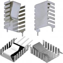 Disipador Térmico de Aluminio Virgen en U 32x20x9mm