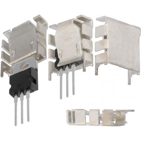 Disipador Térmico Aluminio Extrusionado en U 25.4x25x8.3mm