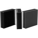 Disipador Térmico de Puas Anodizado en Negro de 53x53x16.51mm