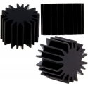 Disipadores Térmicos Redondos 20mm de Aletas Star Negro