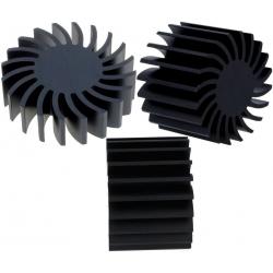 Disipador térmico Star de aletas 70mm Negro